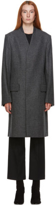 Maison Margiela Grey and Black Wool Houndstooth Coat
