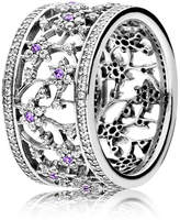 Pandora Forget Me Not Statement Ring - Sterling silver / Purple