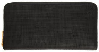Loewe Black Linen Zip Around Wallet