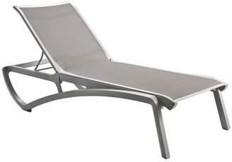 Orren Ellis Leighann Reclining Chaise Lounge (Set of 2) Orren Ellis