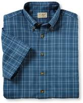 L.L. Bean Wrinkle-Free Twill Sport Shirt, Traditional Fit Short-Sleeve Windowpane