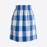 J.Crew Factory Printed linen-cotton sidewalk skirt