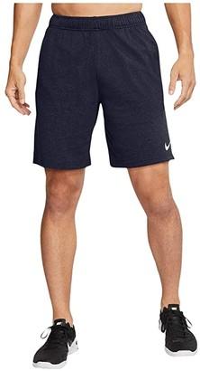 Nike Big Tall Dri-FIT Cotton 2.0 (Black Heather/White) Men's Shorts