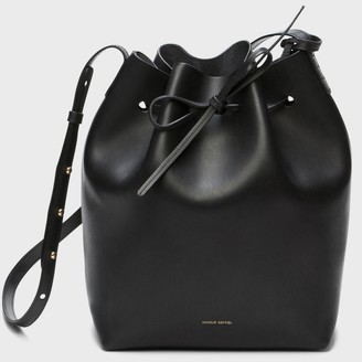 Mansur Gavriel Black Bucket Bag - Raw