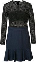 Veronica Beard long sleeve crochet dress - women - Cotton/Polyester/Spandex/Elastane - 0