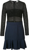 Veronica Beard long sleeve crochet dress - women - Cotton/Polyester/Spandex/Elastane - 6