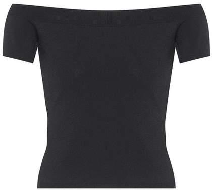 Alexander McQueen Off-the-shoulder jersey top