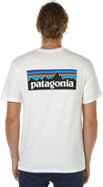 Patagonia P6 Logo Mens Tee White