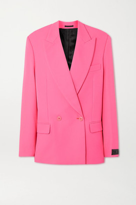 Vetements Oversized Double-breasted Crepe Blazer - Pink