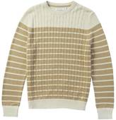 Nautica Striped Cable Front Sweater