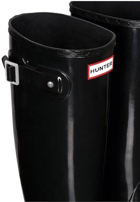 Hunter Womens Original Tall Gloss Welly Boots - Black