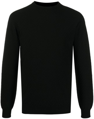 Giorgio Armani Long Sleeve Rib Knit Jumper