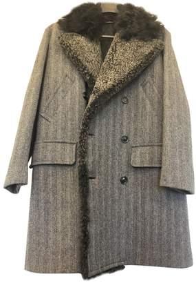 Dolce & Gabbana Silver Fur Coats