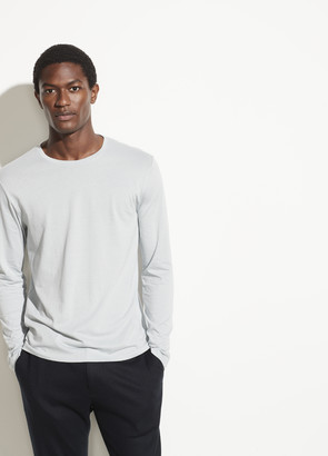 Vince Pima Cotton Long Sleeve Crew