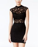 B. Darlin Juniors' Lace Illusion Bodycon Dress, A Macy's Exclusive Color