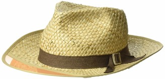 Brixton Men's Hunter Medium Brim Straw Fedora Hat