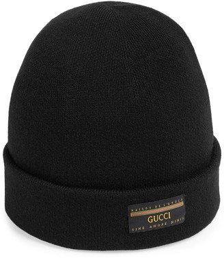 Gucci Wool hat with label