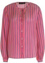 Vanessa Seward Danais Striped Silk-Jacquard Blouse