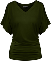 BB Olive Flutter-Sleeve Tee - Plus Too