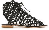 Sophia Webster strappy flat sandals - women - Leather - 35