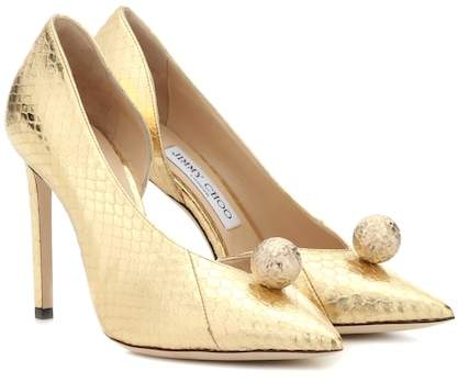 Jimmy Choo Sadira 100 snakeskin pumps