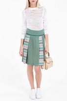 Missoni Multi-Knit Pleated Midi Skirt