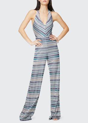 Ramy Brook Riana Printed Halter Jumpsuit