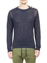 Balmain Textured Distressed Pullover