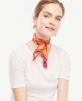 Ann Taylor Sunset Stripe Silk Little Scarf