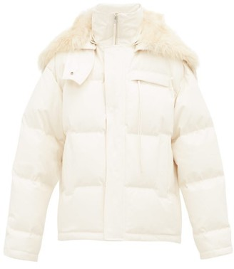 Jil Sander Arctic Quilted-down Hooded Jacket - Womens - Light Beige