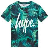 Hype Green Fern Print Branded T-Shirt