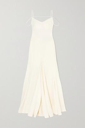 Jacquemus Open-back Cutout Linen Gown - Cream