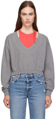 Alexander Wang Grey and Pink Bi-Layer Sweater