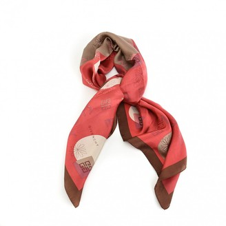 Givenchy Red Silk Scarves
