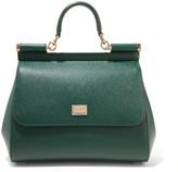 Dolce & Gabbana Sicily Medium Textured-leather Tote - Emerald