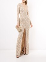 Thumbnail for your product : ZUHAIR MURAD Long Sleeve Embellished Gown