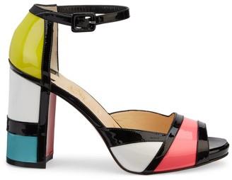 Christian Louboutin Mondiri Colorblock Patent Leather Sandals