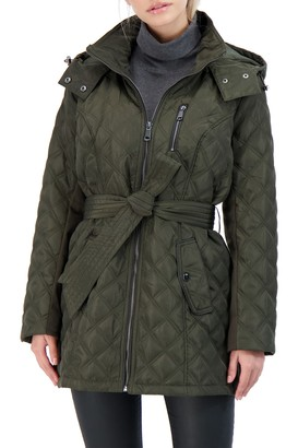 Sebby Collection Belted Quilted Jacket