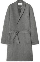 Oliver Spencer Loungewear - Quilted Brushed Cotton-blend Robe - Gray