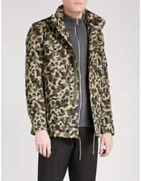 Sandro Camouflage-print Cotton Jacket