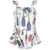 Mini Rodini Mini RodiniIvory Tassels Swimsuit