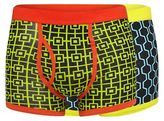 Red Herring Pack Of Two Geometric Print Trunks