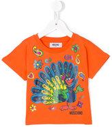Moschino Kids - peacock print T-shirt - kids - Cotton - 6 yrs
