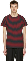 A.P.C. Red Striped Keanu T-shirt