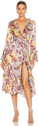 Alexis Wiera Dress in Berry Poulard | FWRD