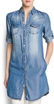 MANGO Shirt denim blouse