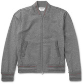 Thom Browne Wool-felt Bomber Jacket - Gray