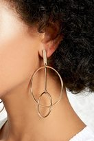 Forever 21 FOREVER 21+ Stacked Circle Drop Earrings