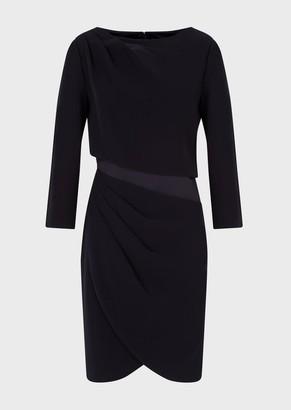 Emporio Armani Technical Cady, Draped Dress