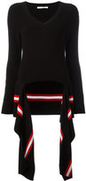 Givenchy draped hem knitted jumper